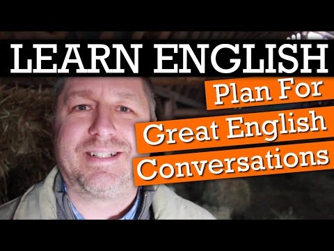 How to Plan for Great English Conversations #1