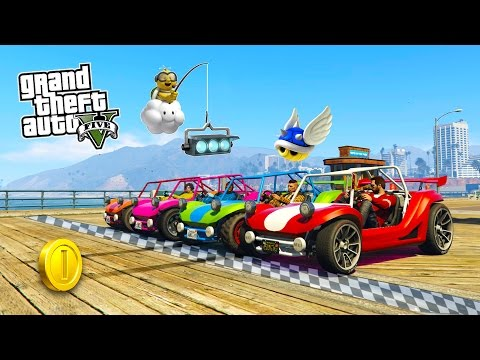 GTA 5 Online MARIO KART Special! EPIC Mario Kart Themed Deathmatch Races! (GTA 5 PC Gameplay Online)