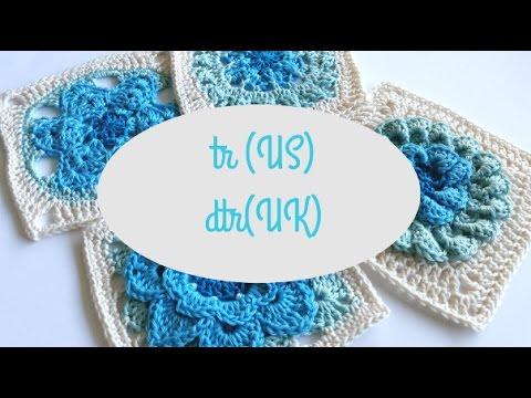 Triple crochet (tr US) or Double treble crochet (dtr UK) by Shelley Husband Spincshions