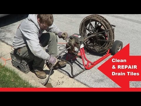 How-to Troubleshoot & REPAIR- fix downspout DRAIN LINES snake a drain & repair
