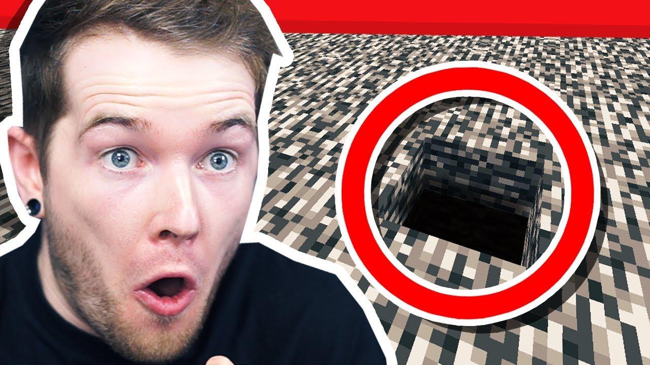 I BROKE BEDROCK in Minecraft Hardcore!