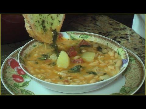 Cuban Caldo Gallego - Galician White Bean Soup