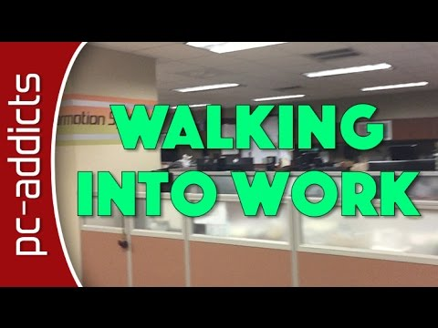 Daily Routine: Walking Into the Office - Vlog