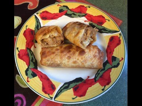 Air Fryer Pulled Pork Egg Rolls