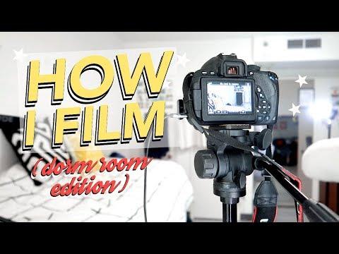 How I Film My YouTube Videos (tiny college dorm room edition!)