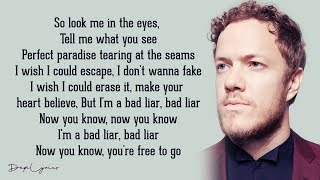 Bad Liar - Imagine Dragons (Lyrics)