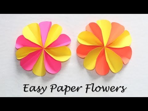 How to Make Paper Craft Flowers | Colorful Paper Flowers Easy | DIY Crafts with Paper