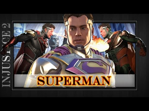 SUPERMAN - All Epic Gear Sets & Character Abilities Showcase Demo - Injustice 2