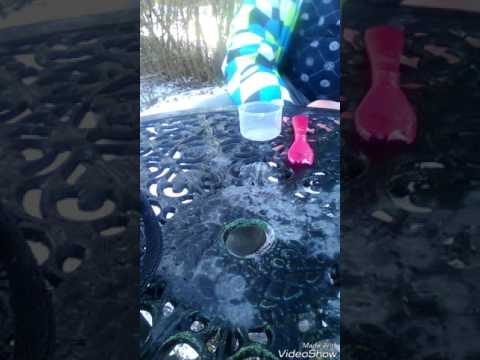 Making slime outside Without Borax , Liquid Starch , Tide