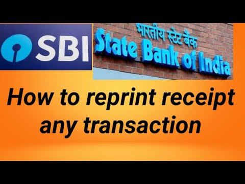 how to reprint recepit of any transaction   sbi mops print payment receipt & see transactions.