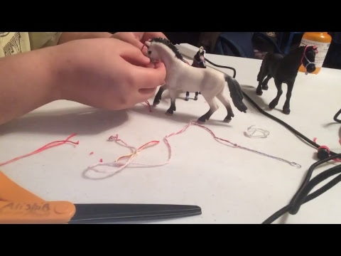 how to make a schleich rope halter for mare and foals part2