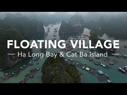 HA LONG BAY & CAT BA ISLAND | FLOATING VILLAGES 4K DRONE VIDEO VIETNAM