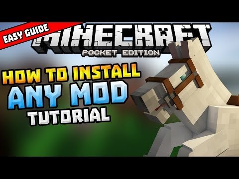 HOW TO INSTALL MODS in MCPE!!! - Simple Installing Guide - Minecraft PE (Pocket Edition)