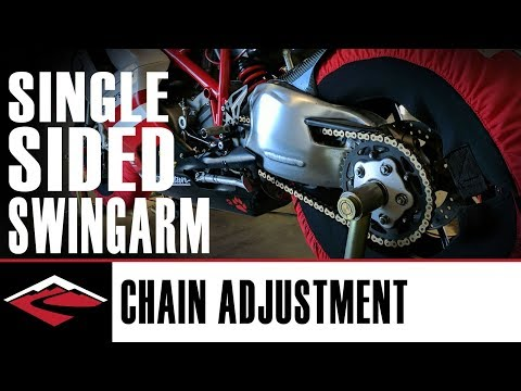 How to Adjust a Motorcycle Chain on a Single Sided Swingarm
