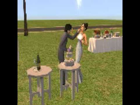 The Sims 2 - Wedding Cake Cutting
