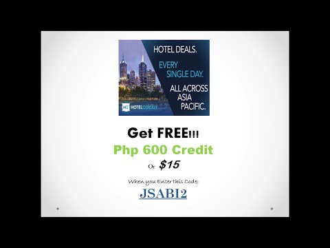 How to Book a Hotel using Hotel Quickly and How to Redeem FREE Php 600 or $15 Credits