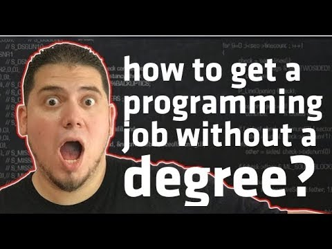 how to get a programming job without a degree? 🚀
