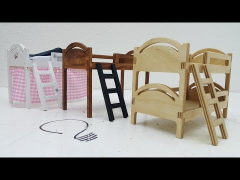 Dollhouse - How to make a Bunk & Loft Bed