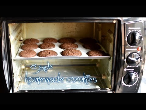 Simple homemade eggless cookies ( chocolate ) using Prestige POTG 19 PCR OTG