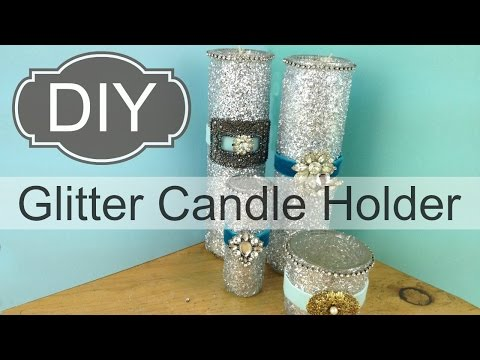 DIY Glitter Candle Holder | by Michele Baratta