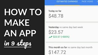 Make An Android App In 17 Minutes! & Make Real Admob Money...