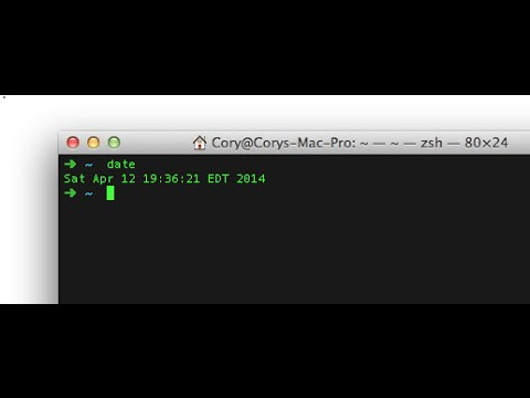 How can change Date from Command Line in mac OSX