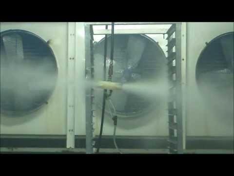 Food plant sanitation using a fogger / atomizer