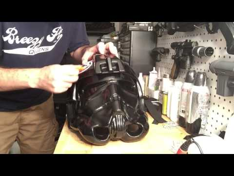 WTF TIE Pilot Helmet Assembly (Part 6 - Finishing Touches)