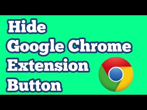 Unhide / Retrieve Google Chrome Extension Button  || Hide Extensions