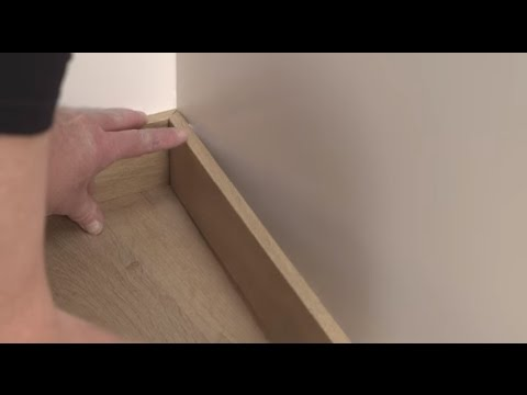 Installing laminate flooring - How to install wallbases or skirtings