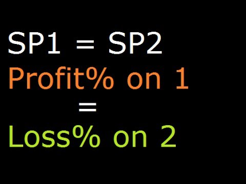 Find Profit or Loss Percentage when two articles are sold at same Sale Price