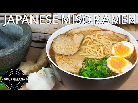 How To Make Miso Ramen a Japanese Style Noodle Soup - Stop Motion Animation Recipe