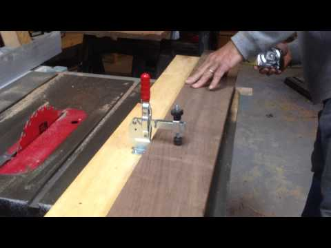 How to put a staight edge on rough lumber