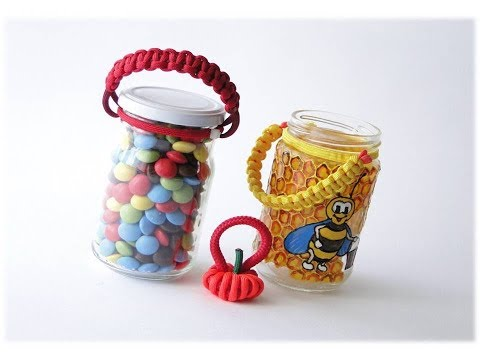 How to Make a Simple Paracord/Zip Ties Jar Handle-Paracord Crafts - CBYS