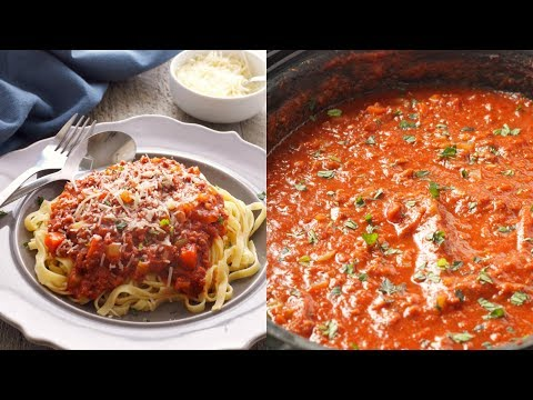 Slow Cooker Bolognese Pasta Sauce Recipe