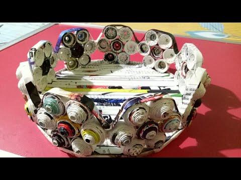 How to make a newspaper basket DIY Newspaper Craft Idea LifeStyle Designs