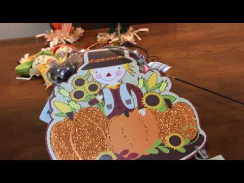 🍁 Dollar Tree Cute Fall Items standing scarecrows, harvest stickers, cherub- August 2017🌿
