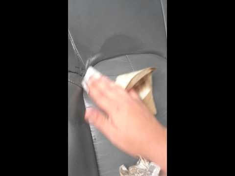 How to remove tar from your leather seats.
