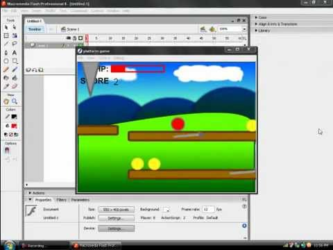 How to make a platform game in flash 8 part 1