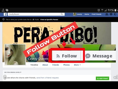 How To Add Facebook Follow Button On your Profile In Android