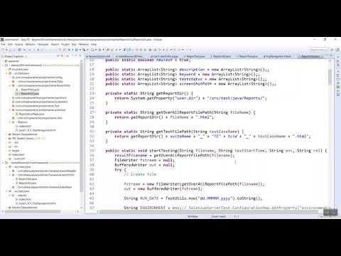HTML Utility Code For Keyword Driven Framework Video-3