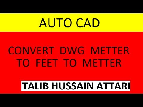 Autocad Drawing (Convert  Metter TO Feet TO Metter)