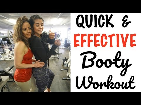 MY MOM TRIES MY BOOTY WORKOUT (SHE HATES ME LOL)