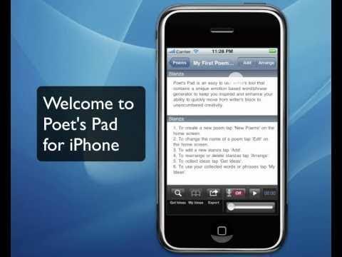 Poetry Writing Software - iPhone Poem Writing App, Poet's Pad