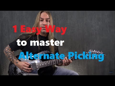 1 Easy Way to Master Alternate Picking (Guitar Lesson)
