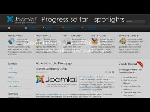 Making a Joomla! 2.5 template in 30 minutes with T3 Framework - (Video #5 - Usertheme Part 1/2)