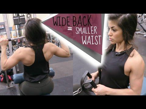 WIDE BACK = SMALLER WAIST