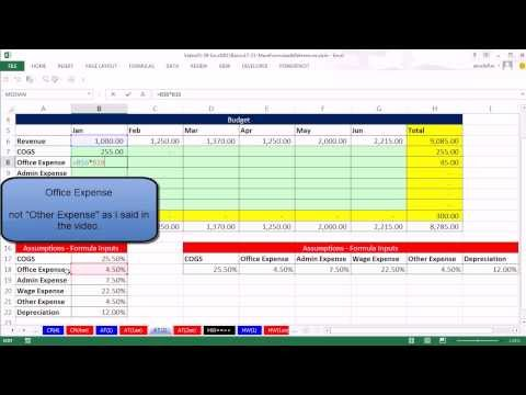 Office 2013 Class #39: Excel Basics 21: Orientate Formula Inputs To Allow Mixed Cell References