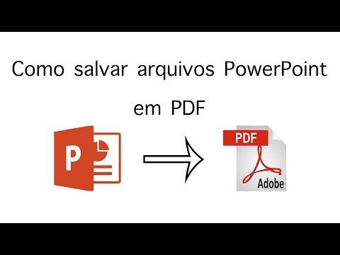 Salvando em PDF com Power Point 2016 Mac