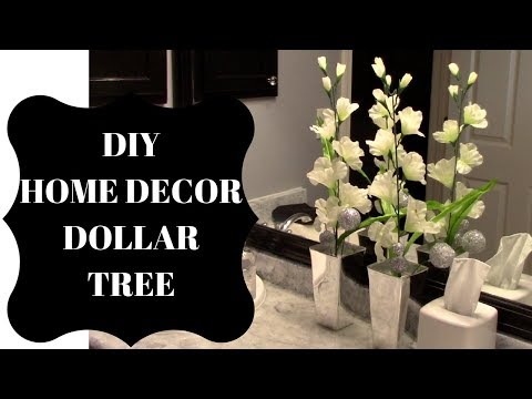 DOLLAR TREE DIY HOME DECOR TALL FLOWER ARRANGEMENT